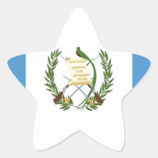 Lowen kostar! Guatemala flagga Stjärnformat Klistermärke