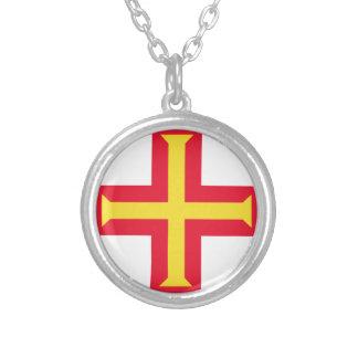 Lowen kostar! Guernsey flagga Silverpläterat Halsband