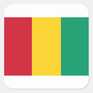 Lowen kostar! Guinea flagga Fyrkantigt Klistermärke