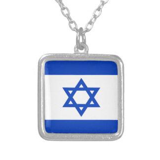 Lowen kostar! Israel flagga Silverpläterat Halsband
