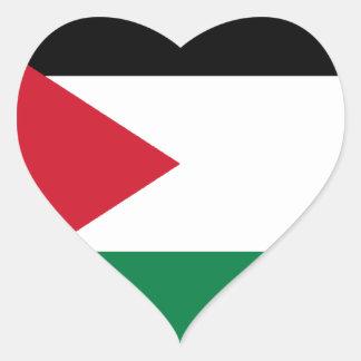 Lowen kostar! Jordanienflagga Hjärtformat Klistermärke