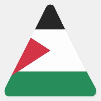 Lowen kostar! Jordanienflagga Triangelformat Klistermärke