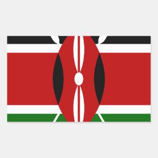 Lowen kostar! Kenya flagga Rektangulärt Klistermärke