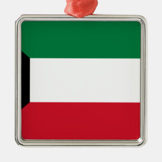 Lowen kostar! Kuwait flagga Julgransprydnad Metall