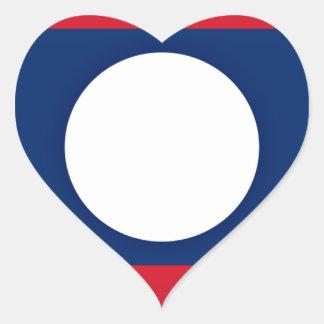 Lowen kostar! Laos flagga Hjärtformat Klistermärke