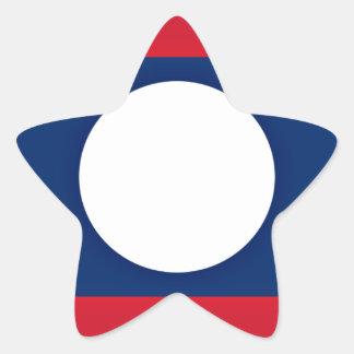 Lowen kostar! Laos flagga Stjärnformat Klistermärke