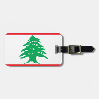 Lowen kostar! Libanon flagga Bagagebricka