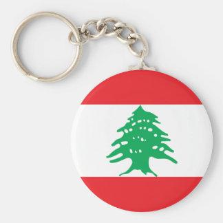 Lowen kostar! Libanon flagga Rund Nyckelring