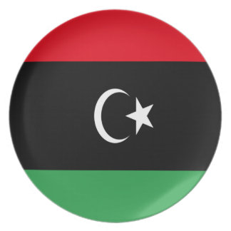 Lowen kostar! Libyen flagga Fest Tallrikar