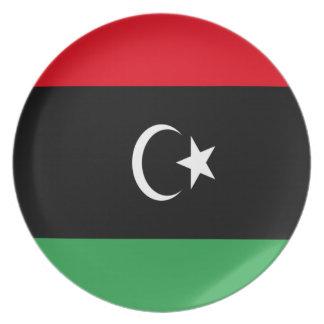 Lowen kostar! Libyen flagga Tallrik