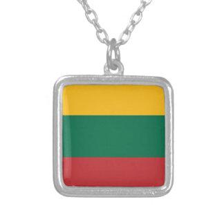 Lowen kostar! Litauen flagga Silverpläterat Halsband