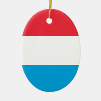 Lowen kostar! Luxembourg flagga Julgransprydnad Keramik