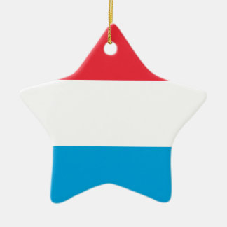 Lowen kostar! Luxembourg flagga Stjärnformad Julgransprydnad I Keramik