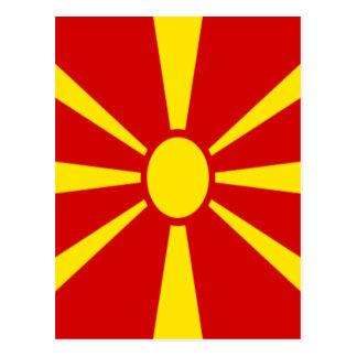 Lowen kostar! Makedonien flagga Vykort
