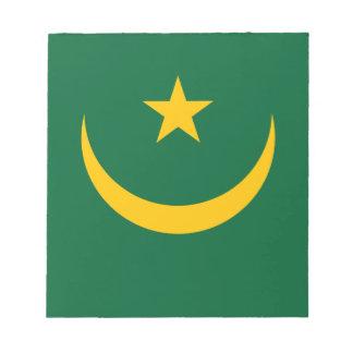 Lowen kostar! Mauretanien flagga Anteckningsblock