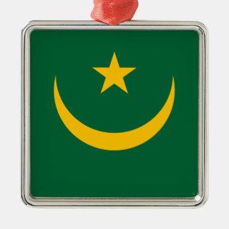 Lowen kostar! Mauretanien flagga Julgransprydnad Metall
