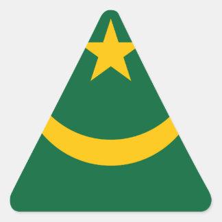 Lowen kostar! Mauretanien flagga Triangelformat Klistermärke