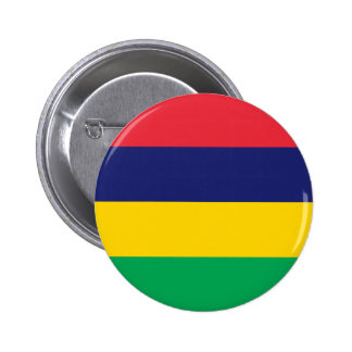Lowen kostar! Mauritius flagga Standard Knapp Rund 5.7 Cm