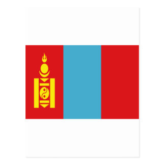 Lowen kostar! Mongoliet flagga Vykort