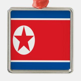 Lowen kostar! Nordkorea flagga Julgransprydnad Metall