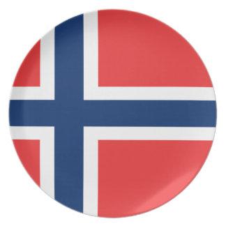 Lowen kostar! Norgeflagga Tallrik