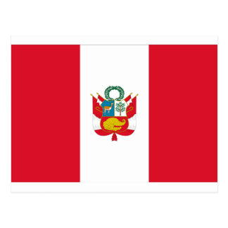 Lowen kostar! Peru flagga Vykort