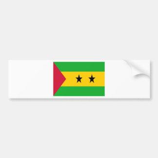 Lowen kostar! São Tomé och Príncipe flagga Bildekal