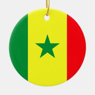 Lowen kostar! Senegal flagga Julgransprydnad Keramik