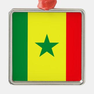 Lowen kostar! Senegal flagga Julgransprydnad Metall