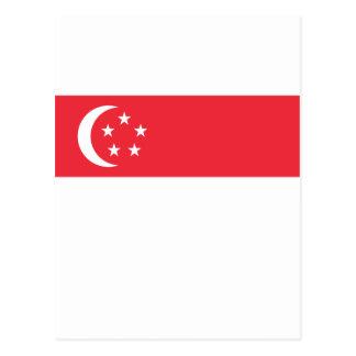 Lowen kostar! Singapore flagga Vykort