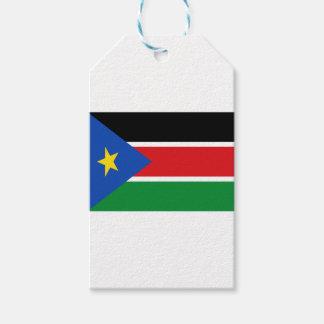 Lowen kostar! Södra Sudan flagga Presentetikett
