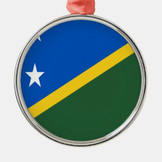 Lowen kostar! Solomon Island flagga Julgransprydnad Metall