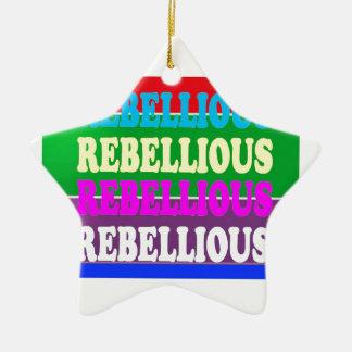 LOWPRICE GIF för rebelliskt uttryck för revolt Stjärnformad Julgransprydnad I Keramik