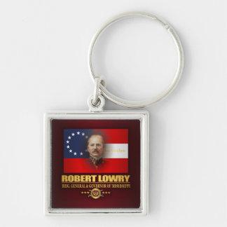 Lowry DV Fyrkantig Silverfärgad Nyckelring