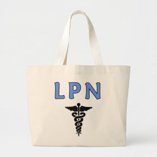 LPN-Caduceus Tote Bags