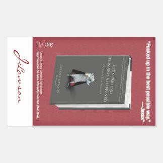 LPTNH-klistermärke (bokägarmärken) - lakan av 4 Rektangulärt Klistermärke