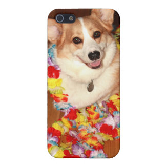Luau Corgiiphone case! iPhone 5 Fodral
