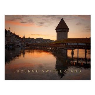 Lucerne Schweitz i ottan Vykort
