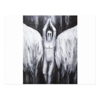 Lucifer morgonstjärnan som stiger ned till vykort
