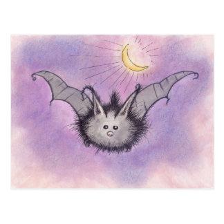 Luddig fladdermöss vykort