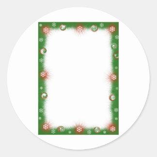 Luddig gräns för julgirland runt klistermärke