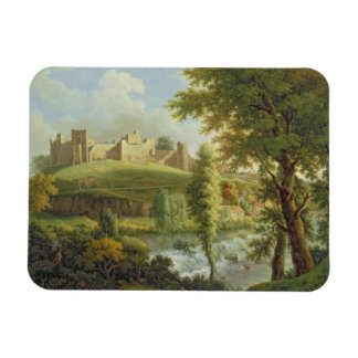 Ludlow slott med den Dinham weiren, från Söderna-W Magnet