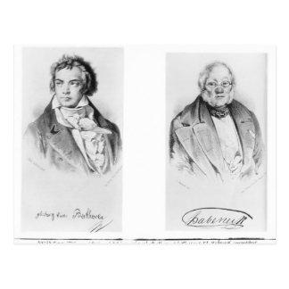 Ludwig Van Beethoven & Francois-Antoine Habeneck Vykort