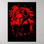Ludwig Van Beethoven Tribute (red) Poster