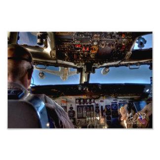 Luft för AWACS som E-3 tankar HDR Fotografiska Tryck