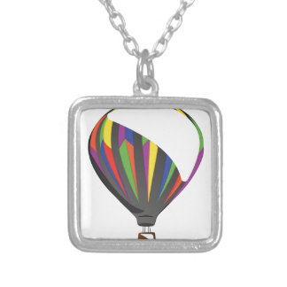 Luftballong Halsband Med Fyrkantigt Hängsmycke