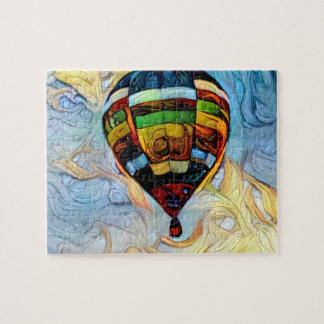 Luftballong målat pussel