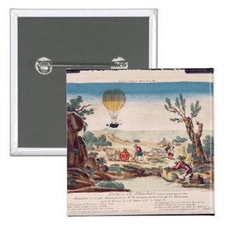 Luftballongen av Jean Pierre Blanchard Standard Kanpp Fyrkantig 5.1 Cm