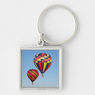 Luftballonger Fyrkantig Silverfärgad Nyckelring