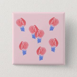 Luftballonger kvadrerar knäppas standard kanpp fyrkantig 5.1 cm